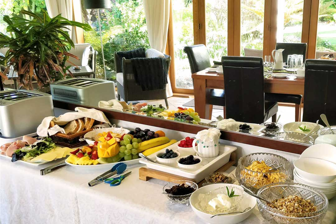Villa buffet breakfast